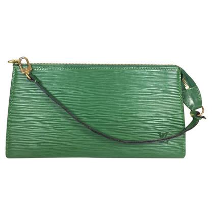 """Louis Vuitton """"Pochette Accessoires Epi Leder"""" in Grün"""