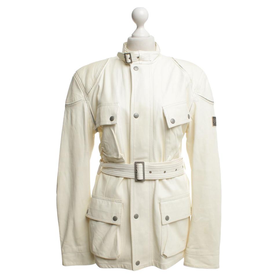 Belstaff Leather jacket in vanilla colors
