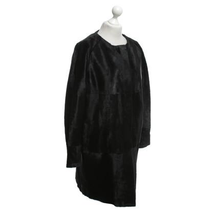 Marina Rinaldi Coat with pony fur trim