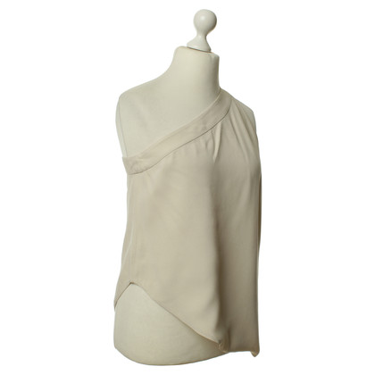 Armani One-shoulder blouse beige