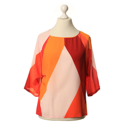 Max Mara Silk top in multi colored