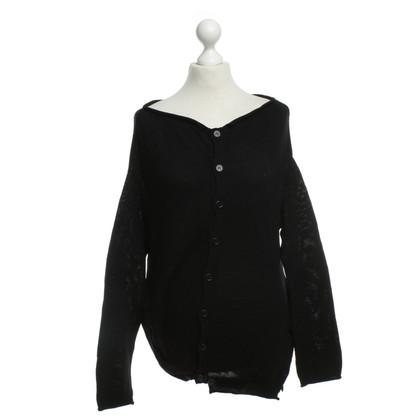 Yohji Yamamoto asymmetrische vest zwart