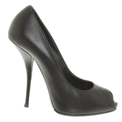 Giuseppe Zanotti Peep-dita dei piedi in nero