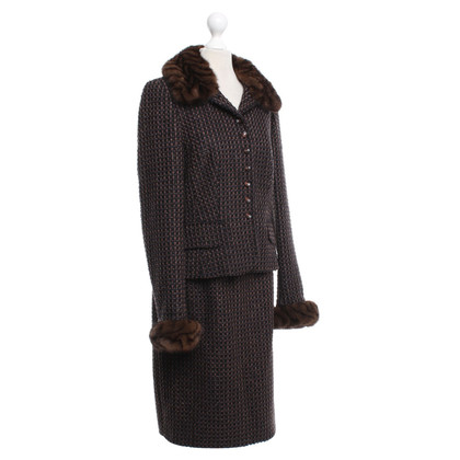 Escada Costume with check pattern