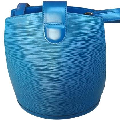 "Louis Vuitton ""Cluny bucket EPI' in blue"