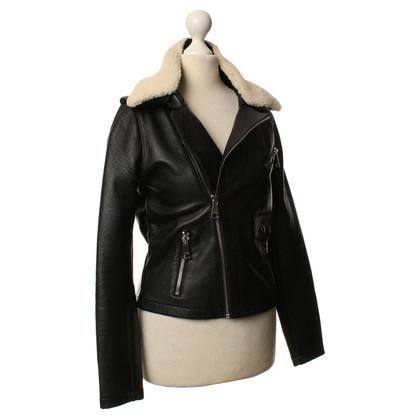 Maje Leather jacket in black