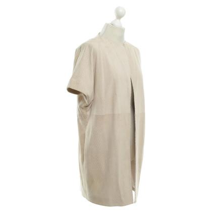 Fabiana Filippi Leather jacket in beige