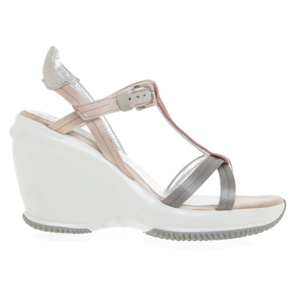 Hogan Sandals in grey / Nude / Pink