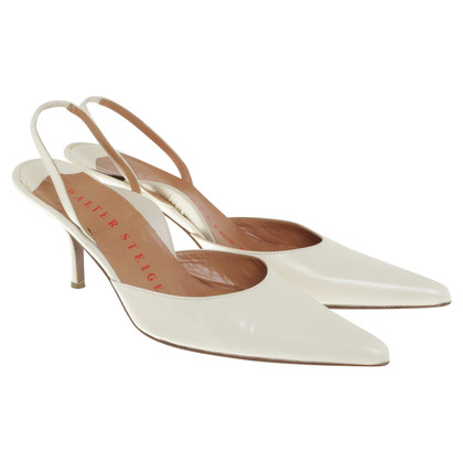 Walter Steiger Cream white pumps