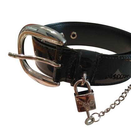 Dolce & Gabbana Belt zwart verf 85cm