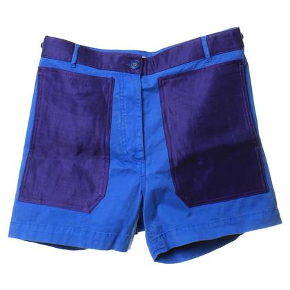 Acne Kurze Hose in Blau/Violett