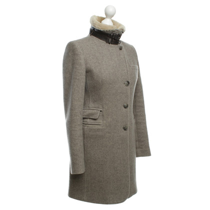 Mabrun Wool coat with herringbone