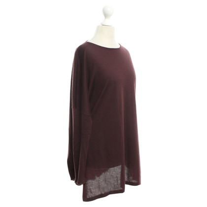 Brunello Cucinelli Fine knit sweater in Bordeaux