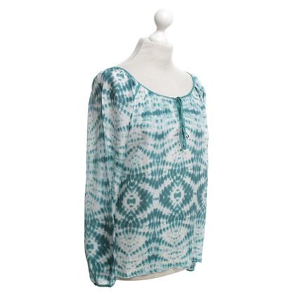 Velvet Zijden blouse met patroon