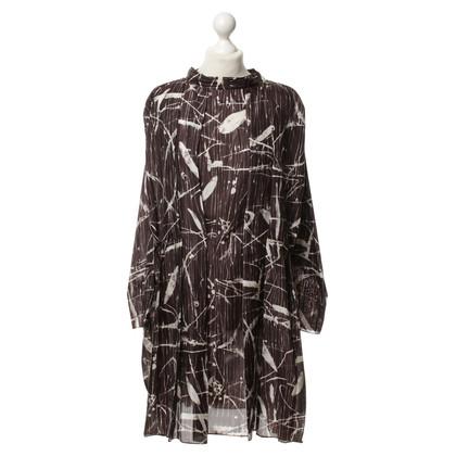Marni zijden jurk tuniek-stijl