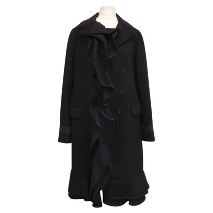 Prada Wool coat with ruffles