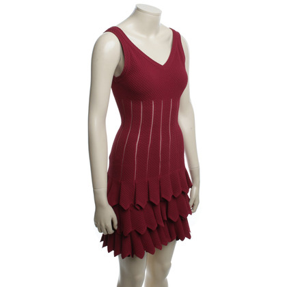 Alaïa Dress in Bordeaux red
