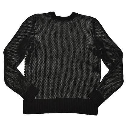 Hugo Boss Maglione di lana a maniche contrastanti