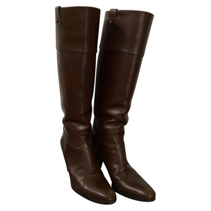 Hugo Boss Dark brown leather boots
