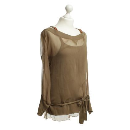 Sonia Rykiel Camicia a maniche lunghe con top in marrone chiaro
