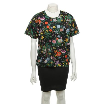 Gucci T-Shirt mit Blumenmuster