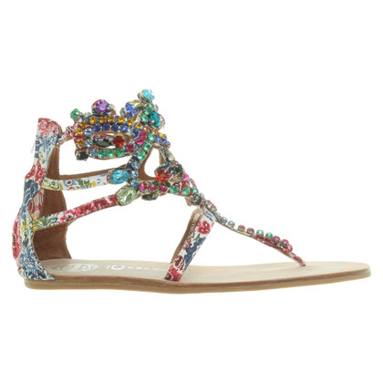 Jeffrey Campbell Sandals with gemstone trimming