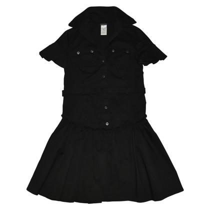 Patrizia Pepe Schwarzes Kleid mit Gürtel