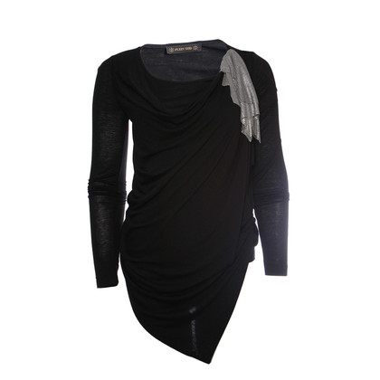 Plein Sud black asymmetrical top