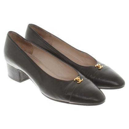 Chanel Lederen pumps in zwart