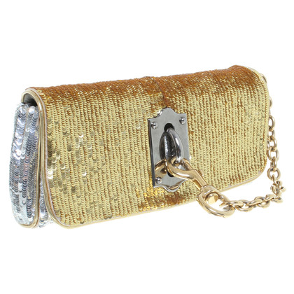 Dolce & Gabbana Clutch in Gold/Silber