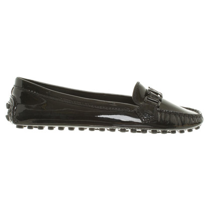 Louis Vuitton Slipper aus Lackleder