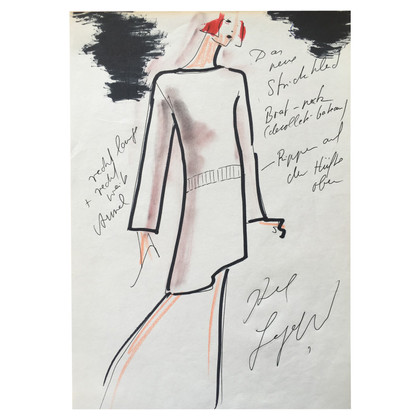 Karl Lagerfeld Croquis de mode