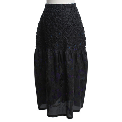 Issey Miyake Maxi skirt with embroidery