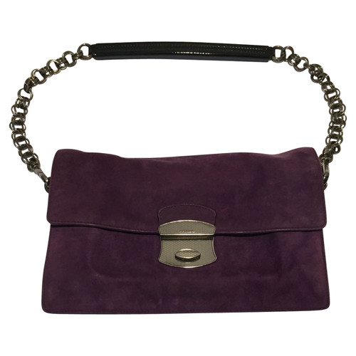 d5756ede9be3 Prada Suede handbag - Second Hand Prada Suede handbag buy used for ...