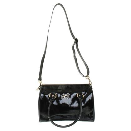 Armani Jeans Handbag made of patent leather