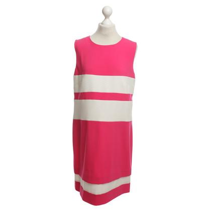 Laurèl Kleid in Pink/Weiß