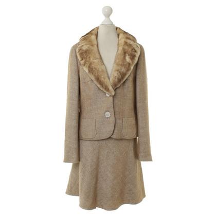 Rena Lange Costume con pelliccia trim