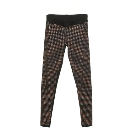 Philipp Plein Black leggings with rhinestones