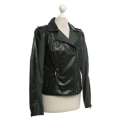 Airfield Short jacket in biker style