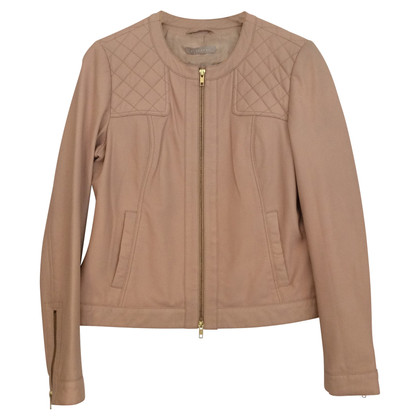 Stefanel Leather jacket in Rosé