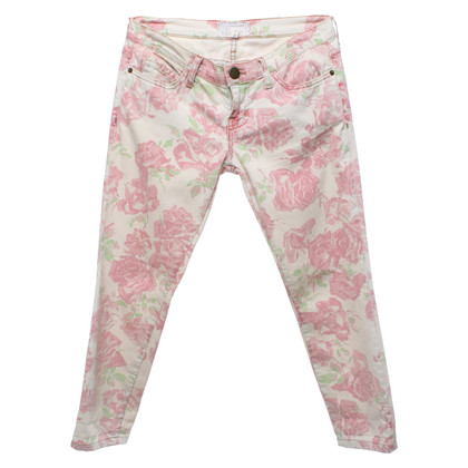 Current Elliott Jeans with a floral print
