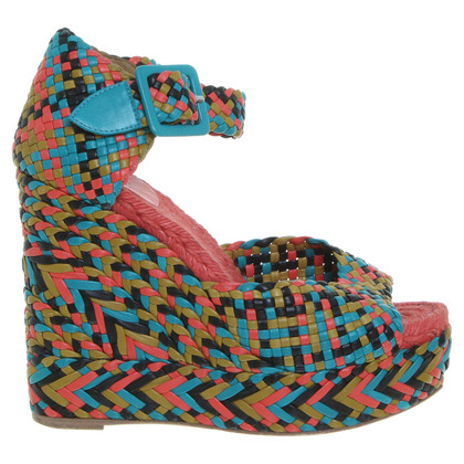 Hermès Wedges met Entrelac-patroon