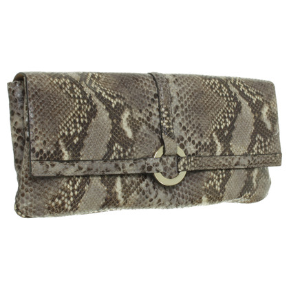 L.K. Bennett clutch in rettile finitura