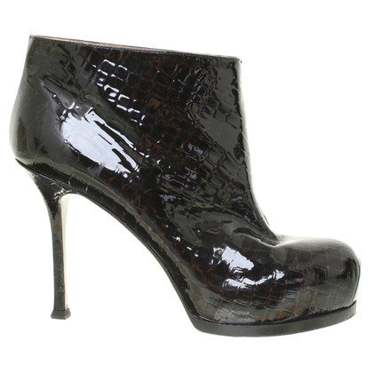 Yves Saint Laurent Ankle boots made of embossed patent leather