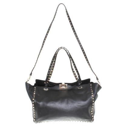 "Valentino ""Rockstud Tote Bag"" in black"