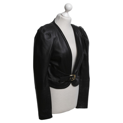 Alice By Temperley Leather blazer in black