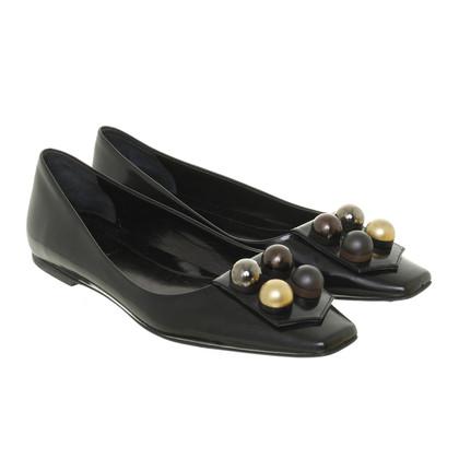 Fendi Zwarte Ballerina's