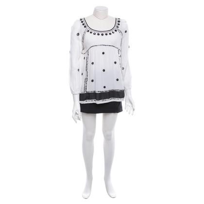 Twin-Set Simona Barbieri Tunic blouse in cream / black