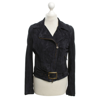 Other Designer Matchless suede leather jacket in blue