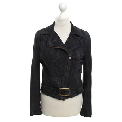 Andere merken Matchless - suede jas in blauw